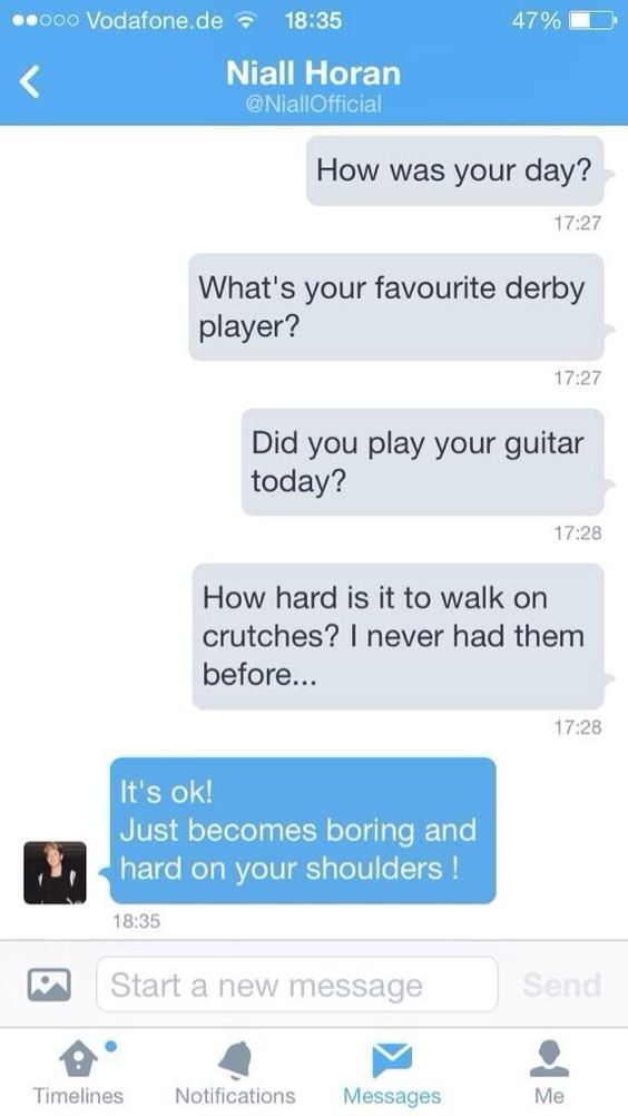 "1DAlert ‏@1DAlert   ""@team_1direction: Niall's DM to a fan 