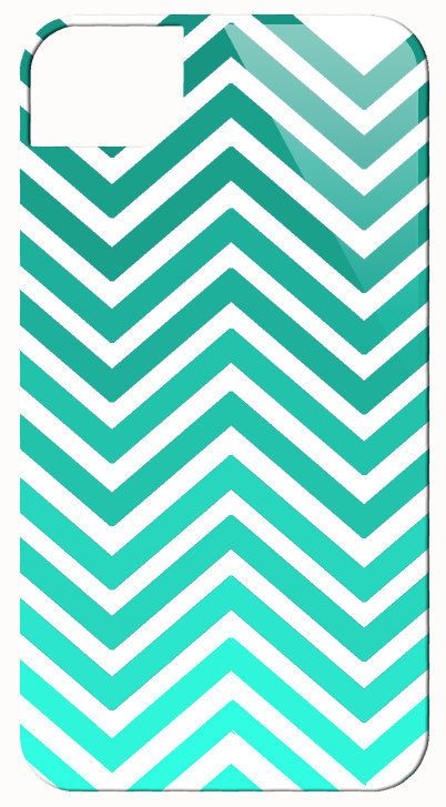 chevron ombre teal iphone case