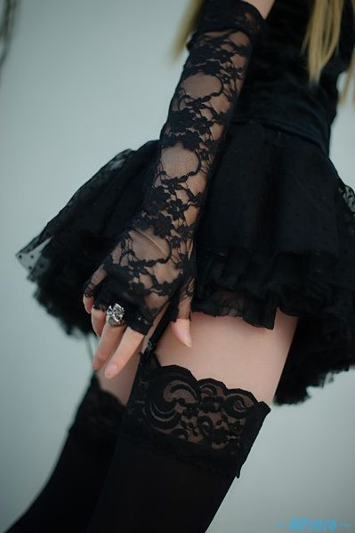 Black lace for a girl