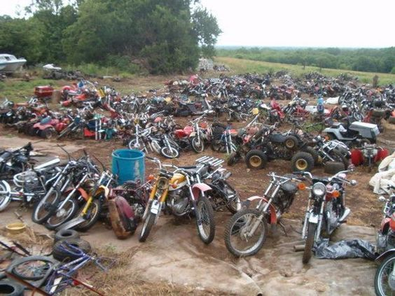 Motorcycle Salvage Yard is where you will find used Motorcycle parts salvaged from old and nearly new Motorcycles. Description from ontario-motorcycle-rides.com. I searched for this on bing.com/images
