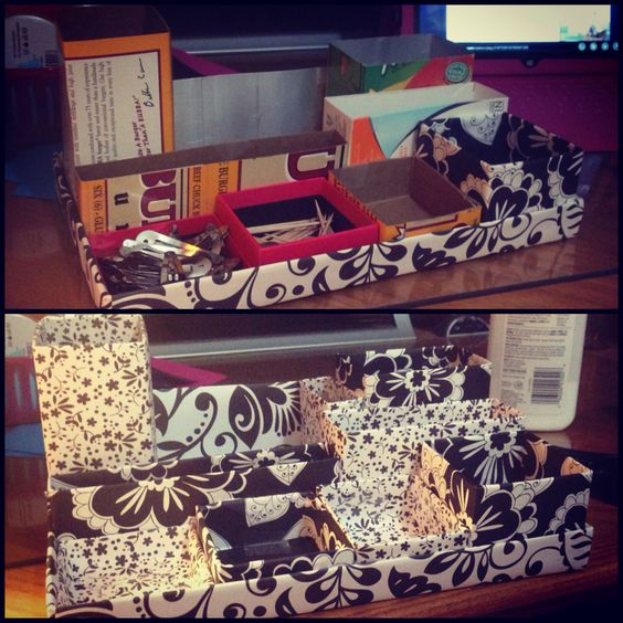 Make your own desk organizer! Made by @caitjane25