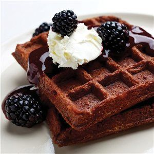 Brownie waffles, Blackberry sauce and Chocolate brownies on Pinterest