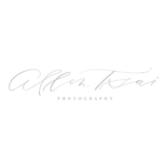 """I'm absolutely overjoyed to finally share this new logo for @allentsaiphoto! Allen is one of the nicest vendors I've ever met, and his brides are so lucky…"""