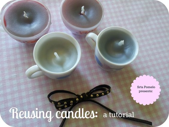 Pomelo_Chocolate: Reusing candles: a tutorial.