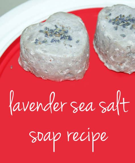 Diy valentine 39 s day gift idea for lavender sea salt soap bathrooms decor homemade and dead - Homemade soap with lavender the perfect gift ...