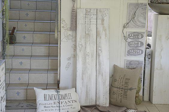 Vintage Garderoben - Shabby Stand-Garderobe in Weiß / Vintage - ein…