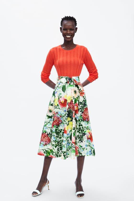 Flowery Skirt Printed Skirts Floral Print Skirt Flower Print Skirt