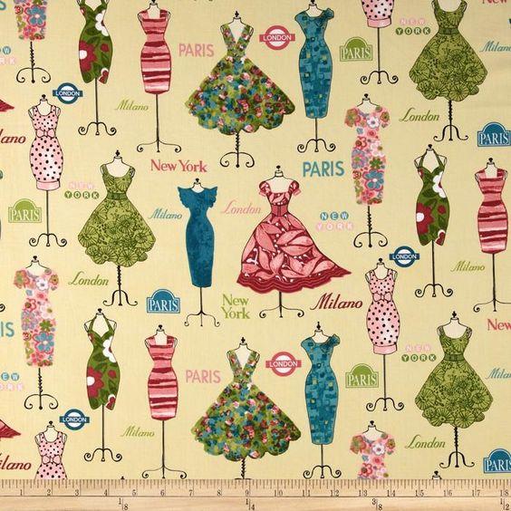 Dress Up Dressed Mannequins Vintage Teal - Fabrics - Pinterest ...