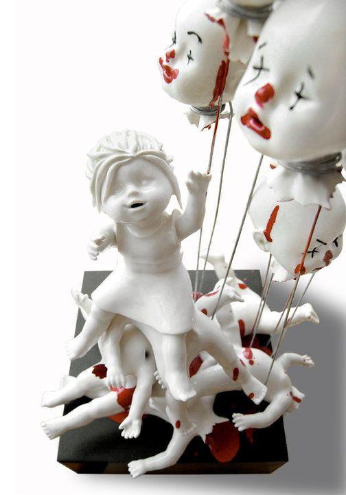 Dangerously Beautiful Ceramic Artwork By Maria Rubinke Creepy - Amazingly disturbing porcelain figurines by maria rubinke