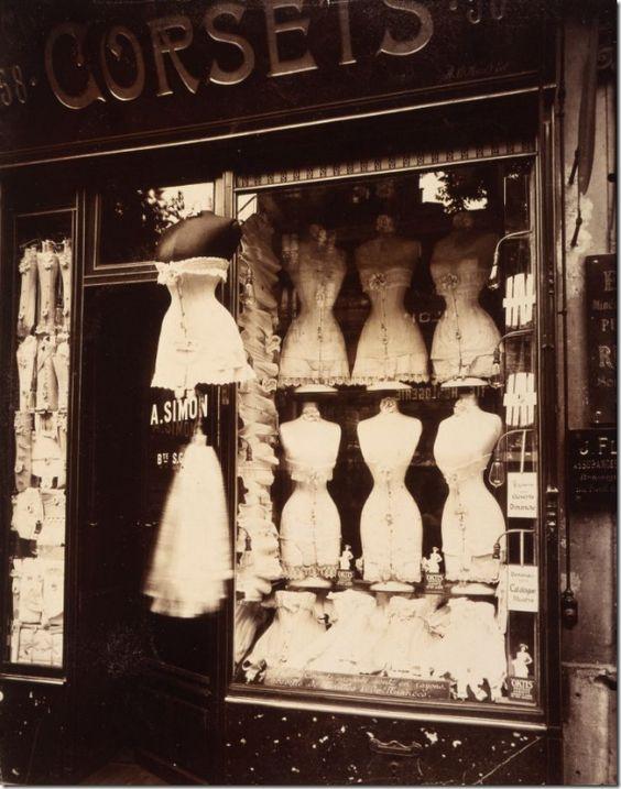a corset shop in 1912 via cote de Texas blogspot