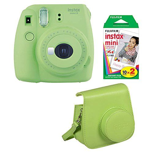 Fujifilm Instax Mini 9 Lime Green Instant Camera With Film Groovy Case Bundle Amazon Best Buy Instan Fujifilm Instax Mini Instax Mini Instant Camera