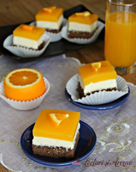 Prăjitură Fanta Cu Cremă De Brânză și Jeleu De Portocale Lecturi Si Arome Recipe Cookie Recipes Cake Recipes Food