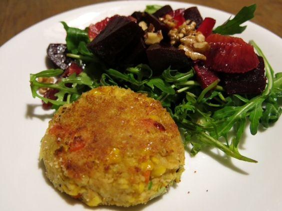 Veggieburger makkelijk zelf gemaakt - Healthy Vega
