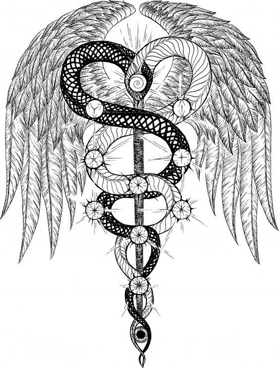 1000 ideas about caduceus tattoo on pinterest nurse tattoos - Meer Dan 1000 Idee 235 N Over Caduceus Tattoo Op Pinterest