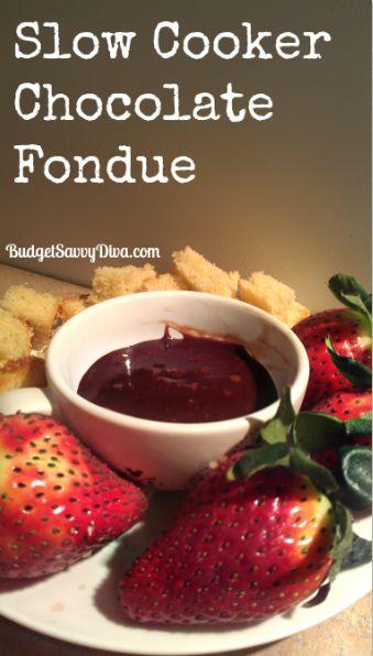 Slow Cooker Chocolate Fondue | Recipe | Chocolate chips ...