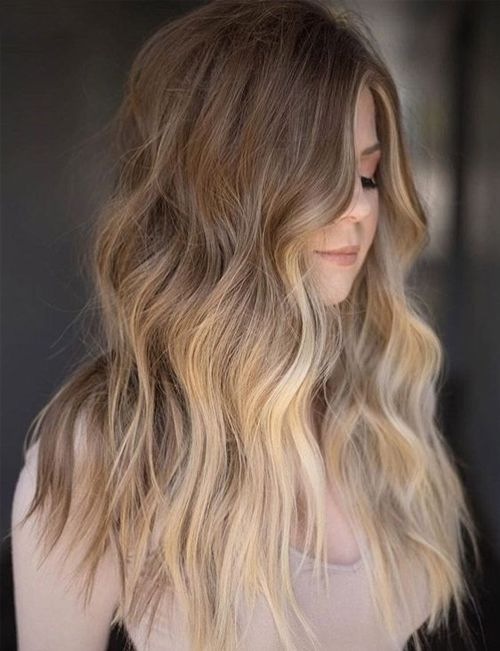 New Extremely Cool Sandy Blonde Long Wavy Hairstyles 2019