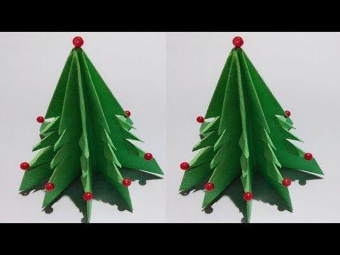 1109 3d Paper Christmas Tree Diy Christmas Tree Origami Christmas Tree Youtube Diy Christmas Tree Diy Paper Christmas Tree Paper Christmas Tree