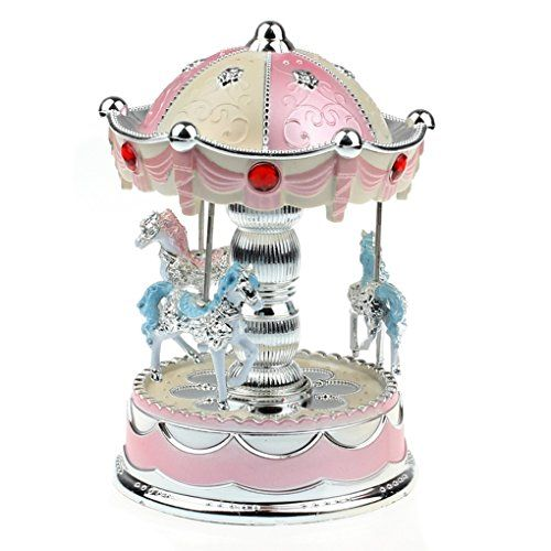 1 X New Merry-Go-Round Music Box Christmas Birthday Gift Carousel Music Box(with retail package) Read more http://shopkids.ca/baby-girls/tonsee-new-merry-go-round-music-box-christmas-birthday-gift-carousel-music-box-pink/
