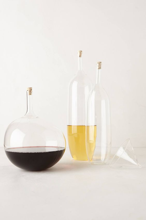 Mouth-Blown Wine Carafes - anthropologie.com