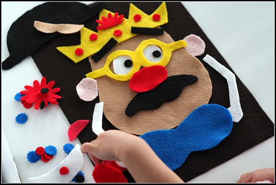 Felt Mr. Potato Head-I have something similar but I need to remember to make more accessories.