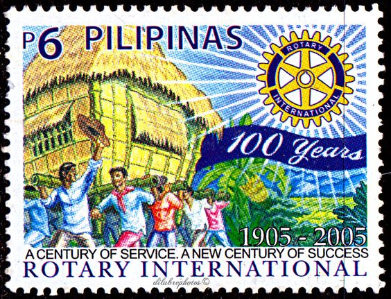 Philippines.  ROTARY INTERNATIONAL CENTENARY.   Scott 2963  A941, Issued 2005 May 31, Php  6. /ldb.