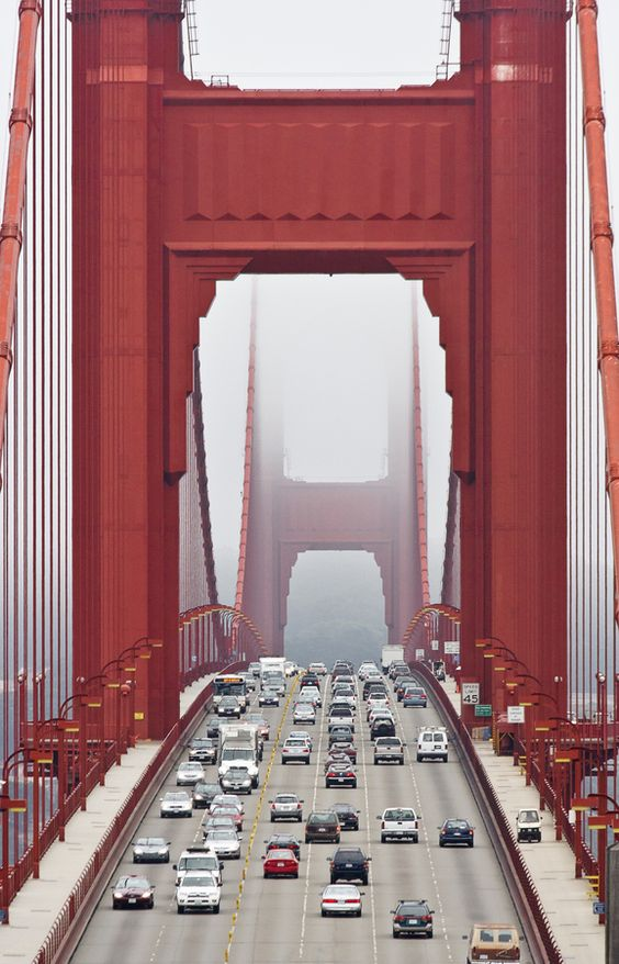 The Golden Gate Bridge, San Fransisco This is exactly what the Bridge looked like in August when we crossed it with our friends, the Melchers on the way home from Alaska!