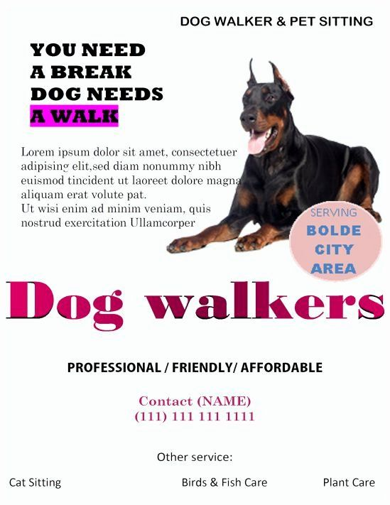 Free Dog Walking Flyer Template New 25 Dog Walking Flyers For