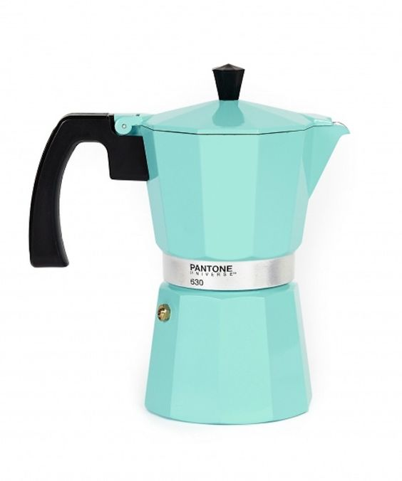 Pantone Coffee Maker How To Use : stove top espresso and coffee maker. #pantone #mint #kitchen FOR THE KITCHEN Pinterest ...