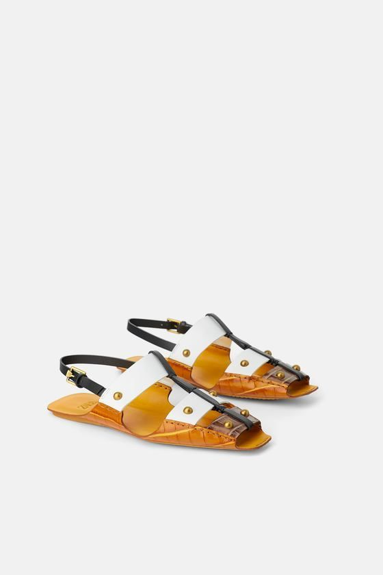 Leather sandals flat, Leather sandals