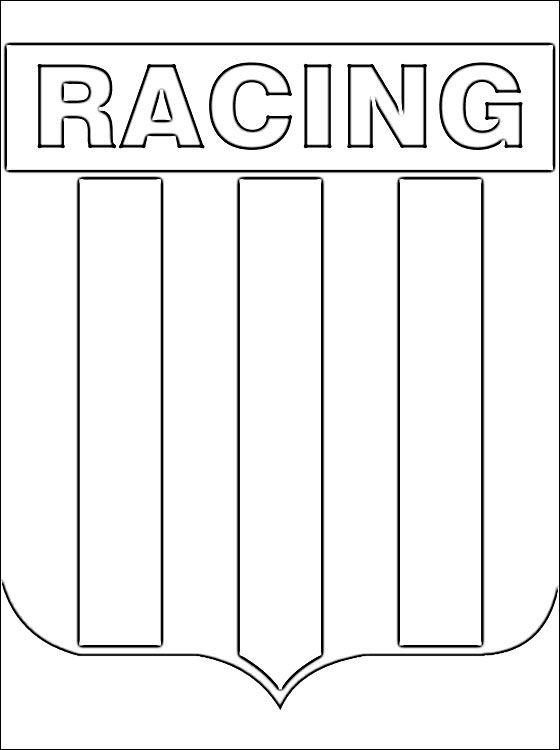 Emblema Del Racing Club Dibujos Para Colorear Dibujo De Elefante Club Dibujos De Futbol