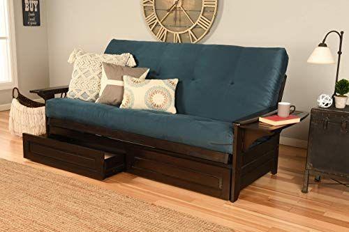 Buy Kodiak Futons KF Phoenix Sofa Bed, Full, Suede Navy ...