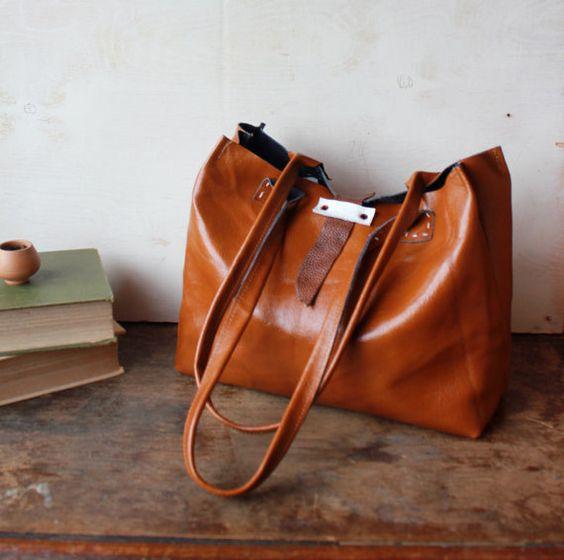 Beautiful leather bag.