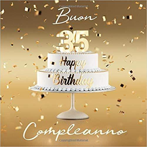Buon Compleanno 35 Anni Libro Degli Ospiti Con 110 Pagine