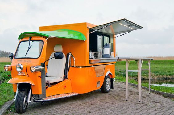 'e-tuk vendo', an electric rickshaw-style van for mobile catering