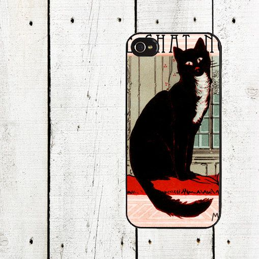 French Black Cat iPhone Case for iphone 44s iphone 5  by Arete, $16.00