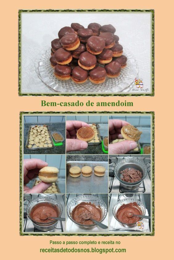 Bem Casado De Amendoim Ideias Farinha De Amendoim E Doces E