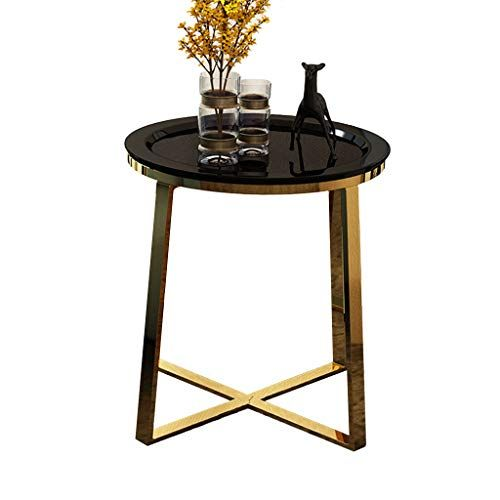 Family History Stainless Steel Small Coffee Table Metal Side Table Golden Round Table Corner Tab Side Tables Bedroom Bedroom Bedside Table Black Bedside Table