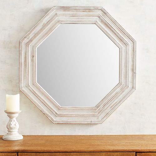 Rustic Whitewashed Mirror Mirror Frame Diy Wooden Mirror Frame Bohemian Decor Diy