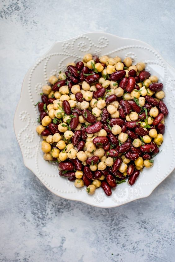 Kidney Bean and Chickpea Salad