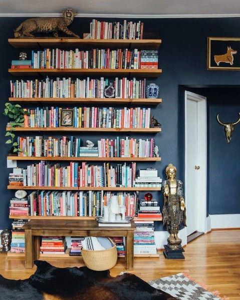 Top 70 Best Floor To Ceiling Bookshelves Ideas Wall Storage Designs Floor To Ceiling Bookshelves Home Home Libraries