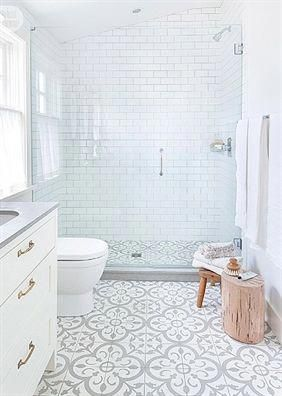 Amazing patterned & cement tile inspiration [Barry Calhoun] #master bathroom ideas #bathroomideas