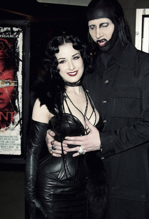 Marilyn Manson and Dita von Teese Interviews - in Metal