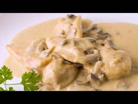 Receta De Pechugas De Pollo Al Cava Karlos Arguiñano Receta Recetas Con Pechuga Pollo En Salsa De Champiñones Pechuga De Pollo