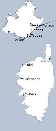 Kombinationsreise Côte d'Azur und Korsika - 8 Tage