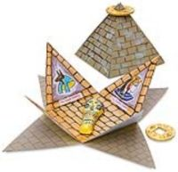 Craft with pdf download for instructions to make Pyramid Book