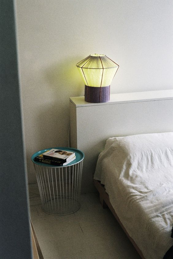 bonbon lamp and noodle side table by ana kras bonbon furniture