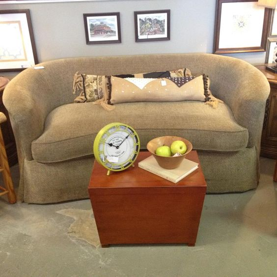 Hickory White kidney loveseat