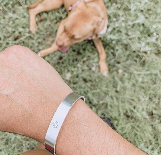 Paw Print Aluminum Cuff Bracelet Benefitting Austin Pets Alive