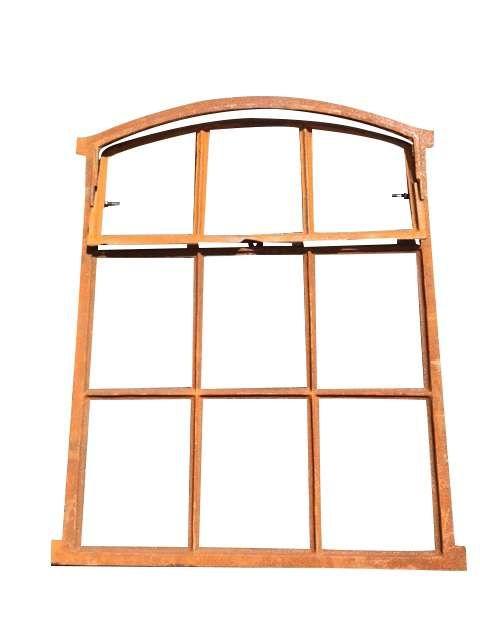 Fenster grau Stallfenster Eisenfenster Scheunenfenster Eisen 43cm Antik-Stil i