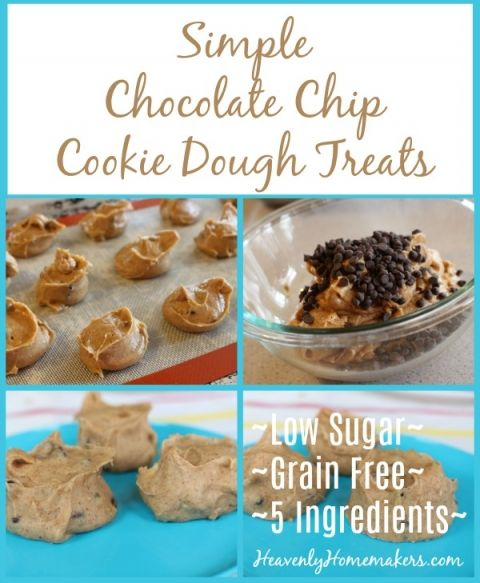 Simple Chocolate Chip Cookie Dough Treats Low Sugar Grain Free